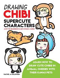 drawing chibi supercute characters easy for beginners kids book cover