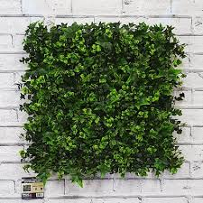 artificial green living wall hedge ivy