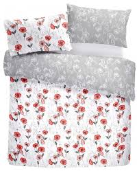fliss easy care red poppy duvet cover set eclectic duvet covers sets by rosenthal