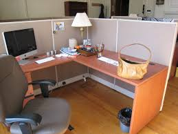 combined office interiors desk. L Shaped Light Brown Office Desk With Gray Room Divider Added White Shade Table Lamp On Combined Interiors