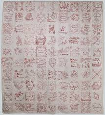 26 best Redwork quilts images on Pinterest | Stitches, Bunnies and ... & Redwork quilt circa Members of Milwaukee's leading German-American families  used Redwork to create blocks of textiles that contained their names and ... Adamdwight.com
