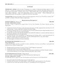 Example Resume Administrative Assistant Administrative Position Resume For Resume Project Manager 14