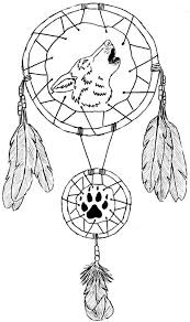 Small Picture Wolf Dream Catcher Coloring Pages Other Art Of Dream Catcher