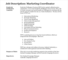 Marketing Coordinator Job Description Delectable 48 Marketing Job Description Templates PDF DOC Free Premium