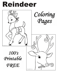 We have selected the best free christmas coloring pages to print out and color. Reindeer Coloring Pages For Christmas