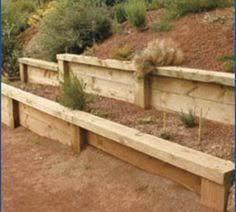 Small Picture How to Build a Timber Retaining Wall Diy retaining wall Japan