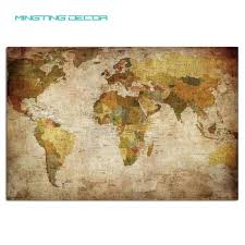 vintage style wall art high quality canvas wall art ancient world map in vintage style painting