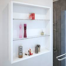 patello white glass shelf wall storage ellegant cabinet for bathroom