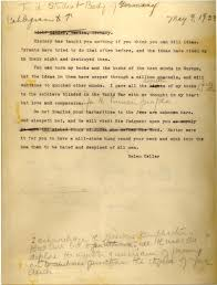 helen keller her scathing letter to german students planning to  helen keller letter