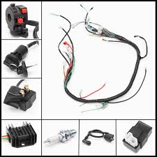 wiring harness loom solenoid coil rectifier cdi fit 120 150 250cc 110 China ATV Utility image is loading wiring harness loom solenoid coil rectifier cdi fit
