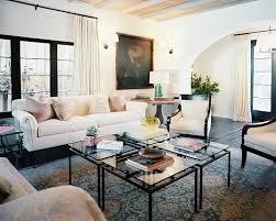 view in gallery glass coffee tables in an inviting living room