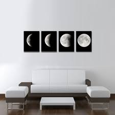 modern art for office. Amazon.com: Wieco Art Moon Large Modern Giclee Canvas Prints Artwork Abstract Space Pictures Paintings On Stretched And Framed Wall Ready To Hang For Office