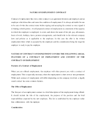 Breach Of Employment Contract Delectable Nature Of Employment Contract MoCU University