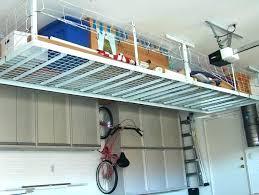 storage plus overhead garage hanging solutions suspended shelves ceiling stora garage ceiling storage