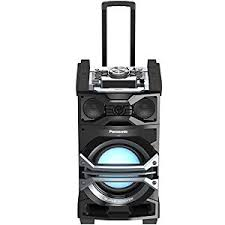 portable bluetooth speakers on wheels. panasonic sc-cmax5 dj jukebox portable audio system with giant 3-way speaker bluetooth speakers on wheels l