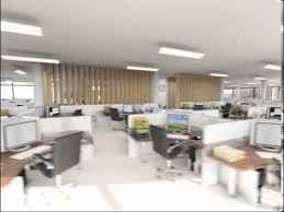office plan interiors. Modern Open Plan Interior Office Space. Design. 3d Animation Of Interiors S