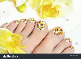 Nail Art Design On Womens Legs Stock Photo 153290837 - Shutterstock