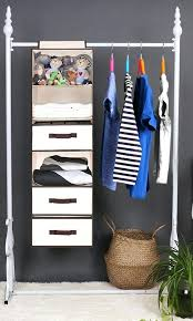 hanging closet organizer shelves with 2 drawers 1 underwear drawer polyester canvas natural 6 shelf home depot