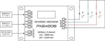 dmx 512 wiring diagram dmx image wiring diagram px24506 dmx512 1990 led decoder 3 channels dc12v 24v 3a kiwi on dmx 512 wiring diagram dmx512 controller