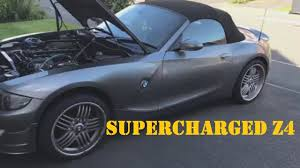 BMW Convertible bmw z4m supercharger : Supercharged 3.0L Z4 BMW - YouTube