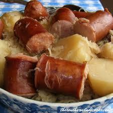 sausage sauer and potatoes the