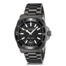 mens gucci watches the watch gallery gucci gucci dive quartz stainless steel black dial mens watch ya136205