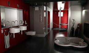 Bathroom Designs Black And Red Elegant Red And Black Bathroom Interior  Design Ideas