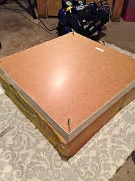 diy ottoman coffee table ikea a purdy little house