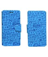 Celkon S1 Flip Cover by Jojo - Blue ...