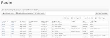 Export report results easily, in multiple formats. - NeonCRM