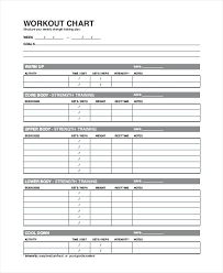 Daily Exercise Log Exercise Chart Templates Gym Workout Log Sheet Daily Blank Weider