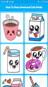 Please see the drawing tutorial in the video below Amazon Com How To Draw Sweet And Cute Drinks Cute Drawing For Kids Appstore For Android