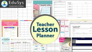 Teacher Lesson Planner Download Free 2020 10 Sample