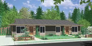 modern multi family house plans elegant ranch style duplex design house plan single level floor plan