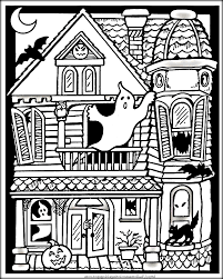 Coloring Pages Free Printablen Coloring Pages Haunted House With