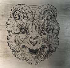 Engraving Practice Designs And Another Dragon Face Much Better Shading Practice