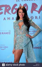 Pilar Rubio, TV host and spouse of Real Madrid's Spanish defender Sergio  Ramos, attends the premiere of