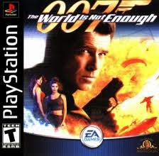 sony playstation 1 games. 007 - the world is not enough sony playstation cover artwork playstation 1 games m