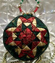 Christmas Patchwork Quilted Ball Ornament by MyPrairieCreations ... & Christmas Patchwork Quilted Ball Ornament by MyPrairieCreations Adamdwight.com