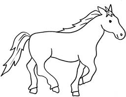 Disegno Di Cavallo Che Corre Da Stampare Gratis E Colorare