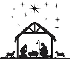 nativity stable clipart. Delighful Nativity Nativity Scene Silhouettes Vector Art Illustration And Stable Clipart N