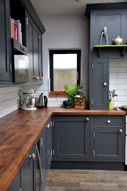dark wood modern kitchen cabinets. Wooden Counters Not Only Look Very Chic But Will Also Save You Photos Grey Kitchen Cabinets Dark Wood Modern