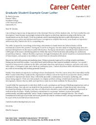 Ideas Of Graduate Student Example Cover Letters About University