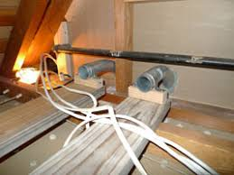 the house electrical mjgradziel com i built short conduits to carry cable to the attic note the improperly secured old