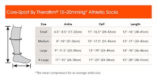 Compression Socks Sizes Chart Sports Compression Socks