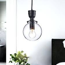 luna mini clear glass globe pendant chandelier in antique black clear globe pendant light clear