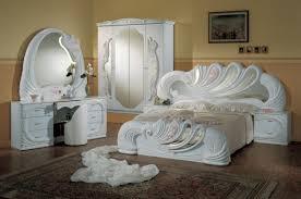 Queen Bedroom Vig Modrest Vanity White Italian Classic Queen Bedroom Sets