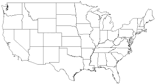 Map Of Usa States Without Names And Travel Information Download