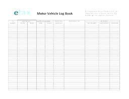 Vehicle Log Book Format Car Mileage Log Template