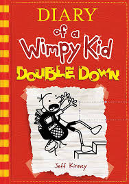 the new cover shows beloved and oblivious underdog greg heffley teetering on a staircase wearing an oversized and overflowing backpack